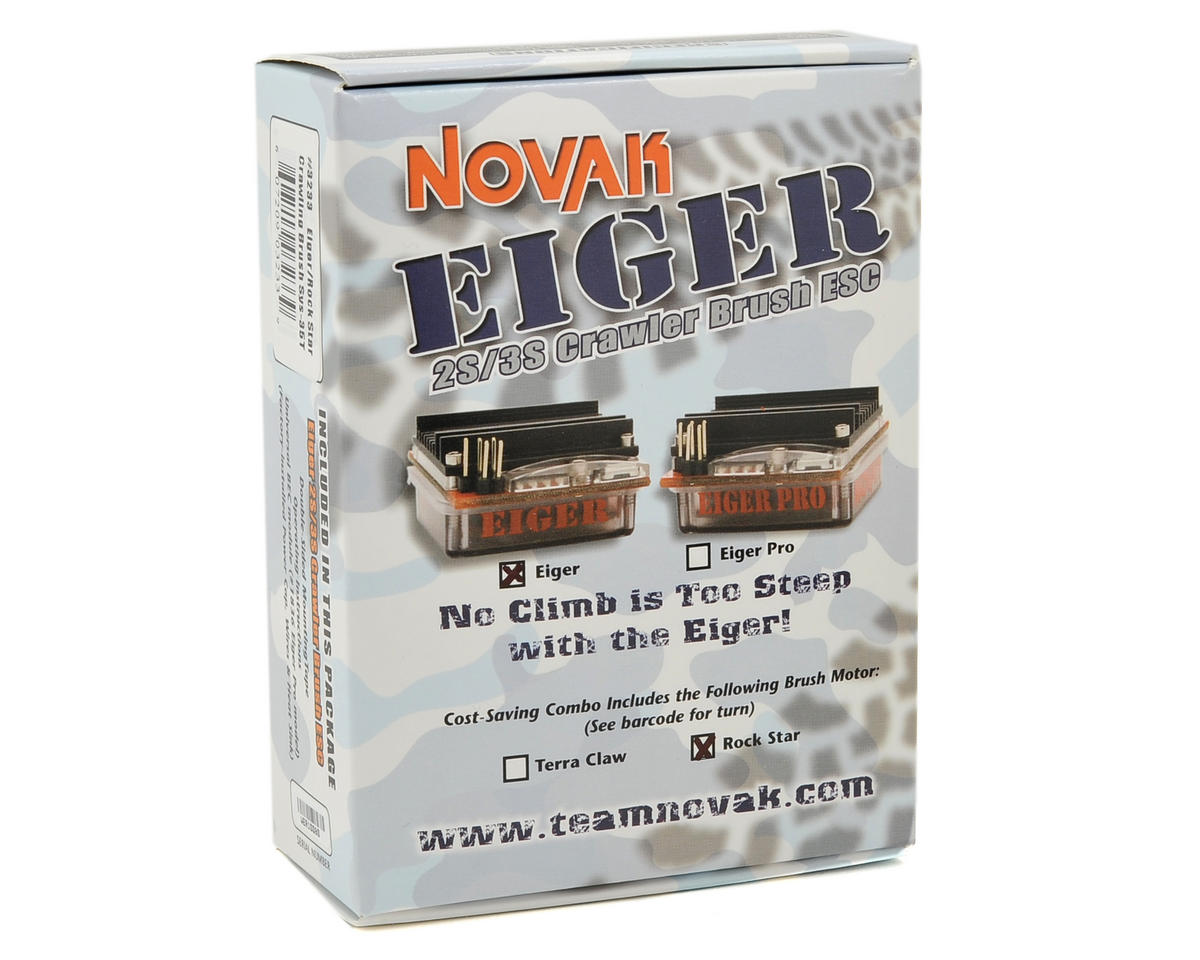 Novak Eiger ESC/Rock Star Brushed Motor Crawler System (35T)