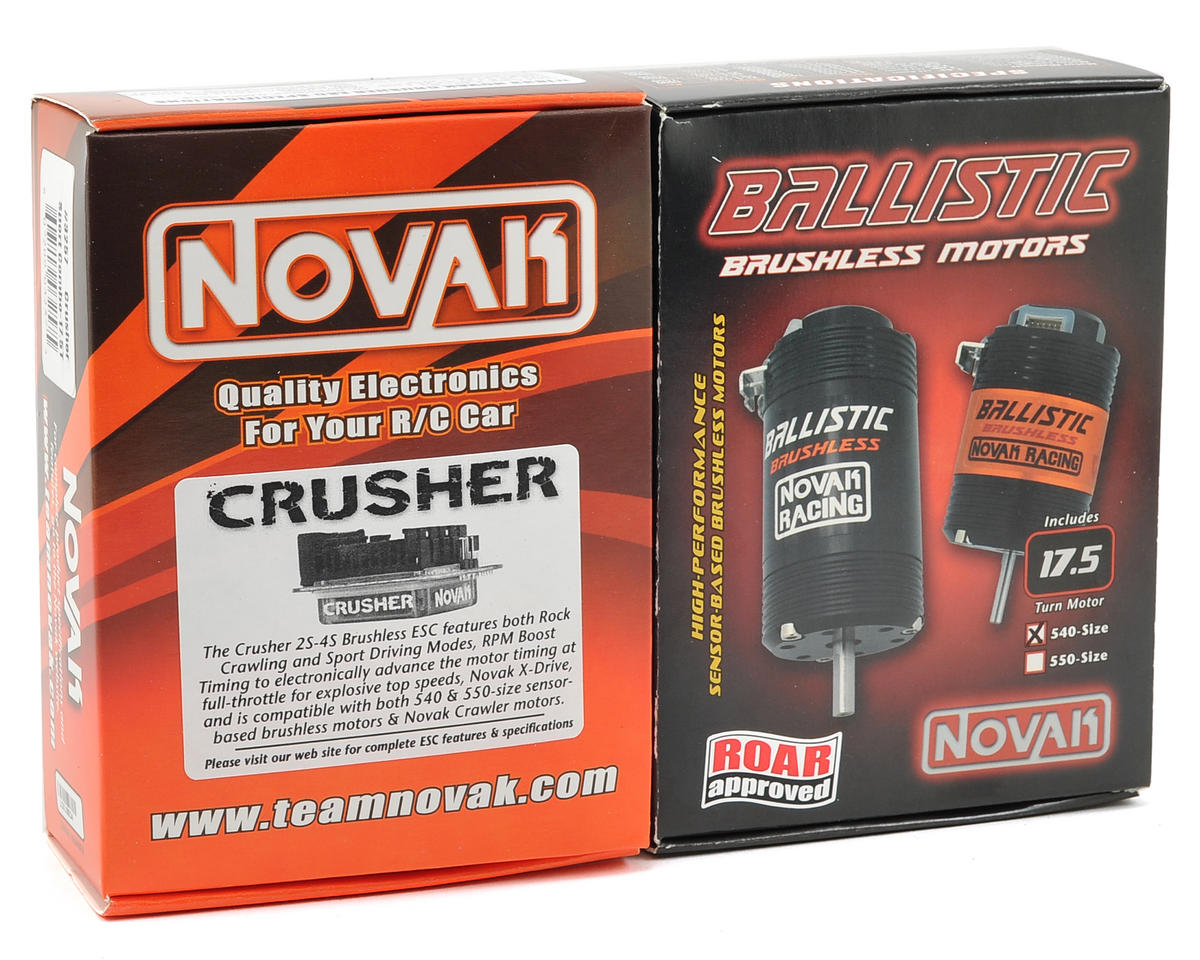 Novak Crusher Extreme Sport Brushless Motor Combo (17.5T)