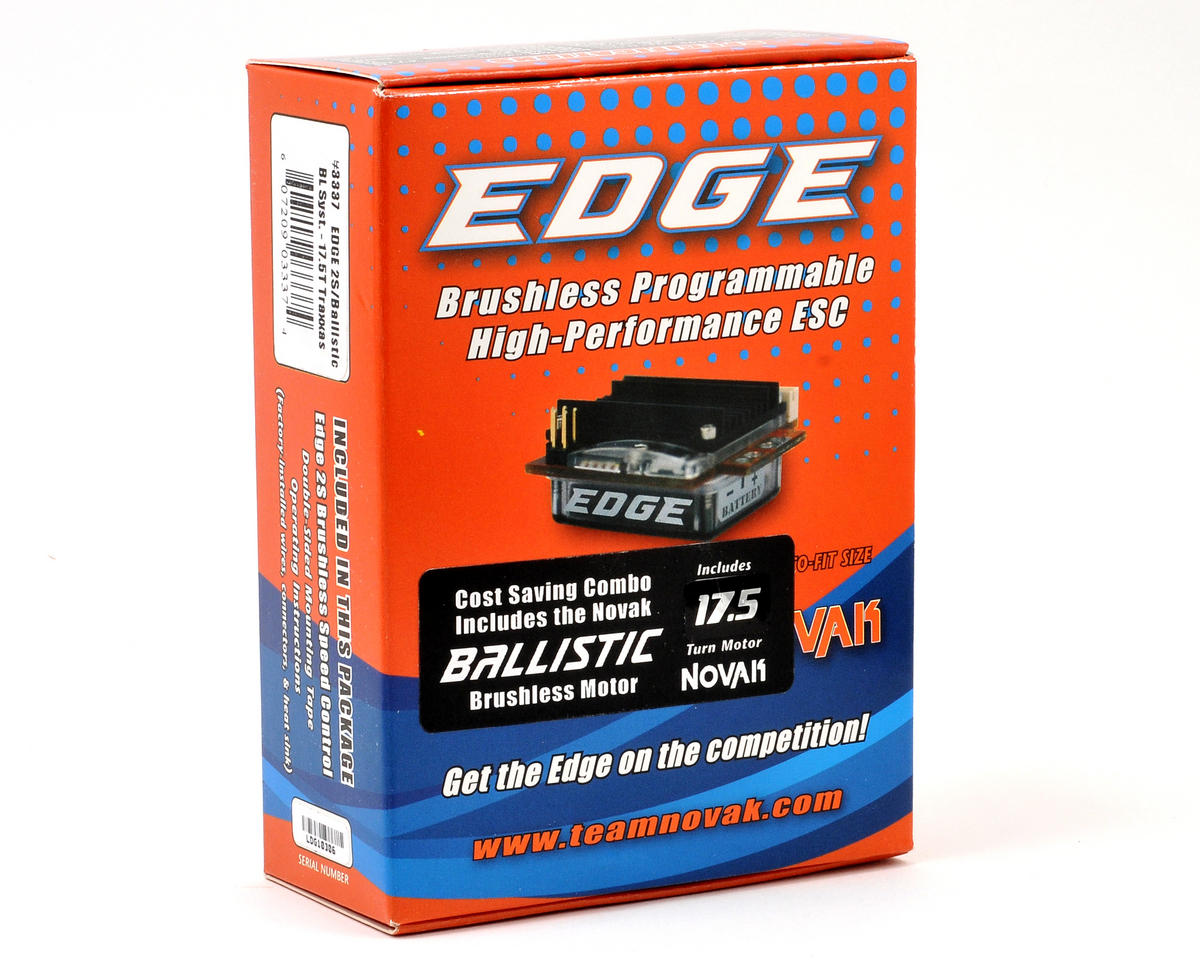 Novak EDGE 2S Brushless ESC/Ballistic Brushless Motor System (17.5T)