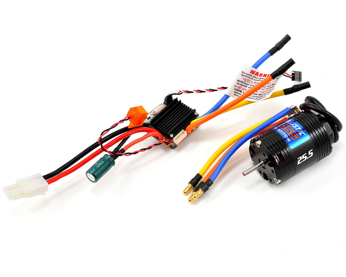 Novak EDGE 2S Brushless ESC/Ballistic Boss VTA Brushless Motor System (25.5T)