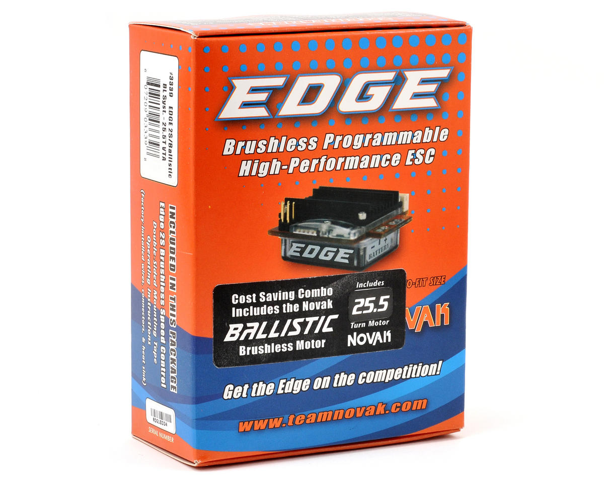 Novak EDGE 2S Brushless ESC/Ballistic VTA Brushless Motor System (25.5T)