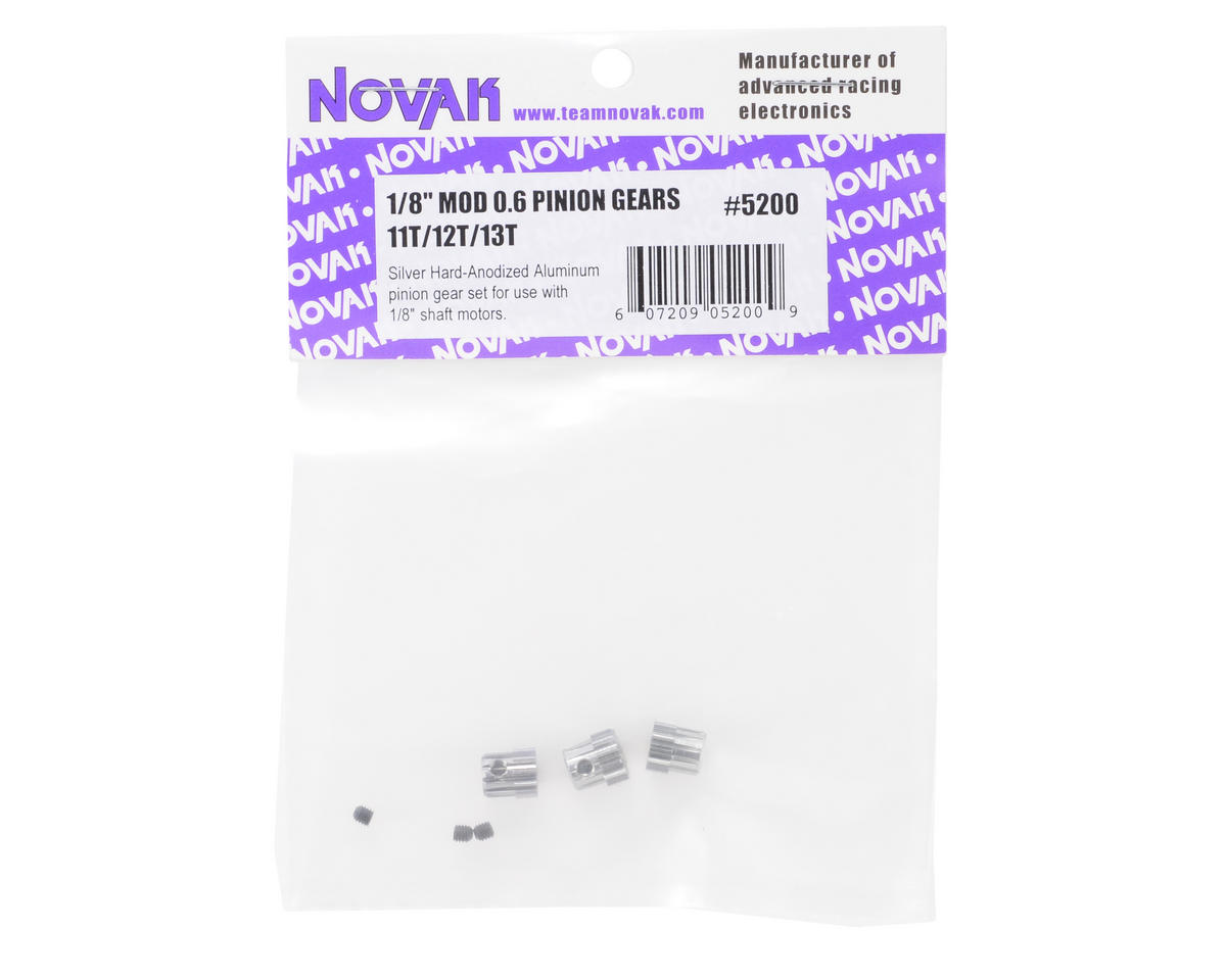 Novak Mod 0.6 Aluminum Pinion Gear Set (11T/12T/13T)