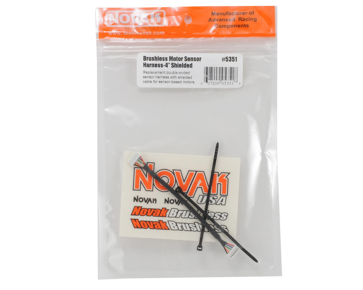 "4"" Brushless Shielded Sensor Harness by Novak"