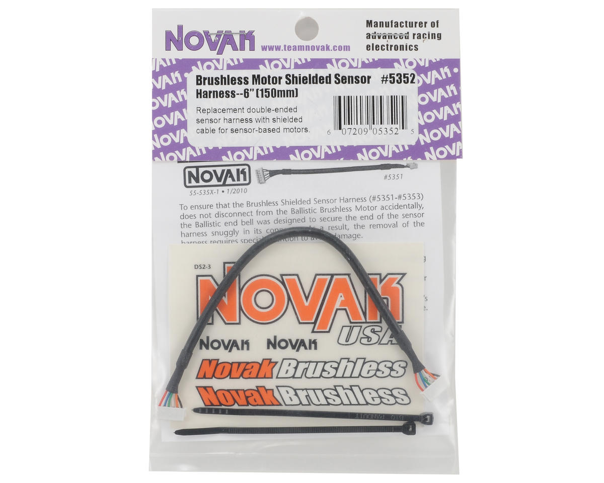 "Novak 6"" Brushless Shielded Sensor Harness"