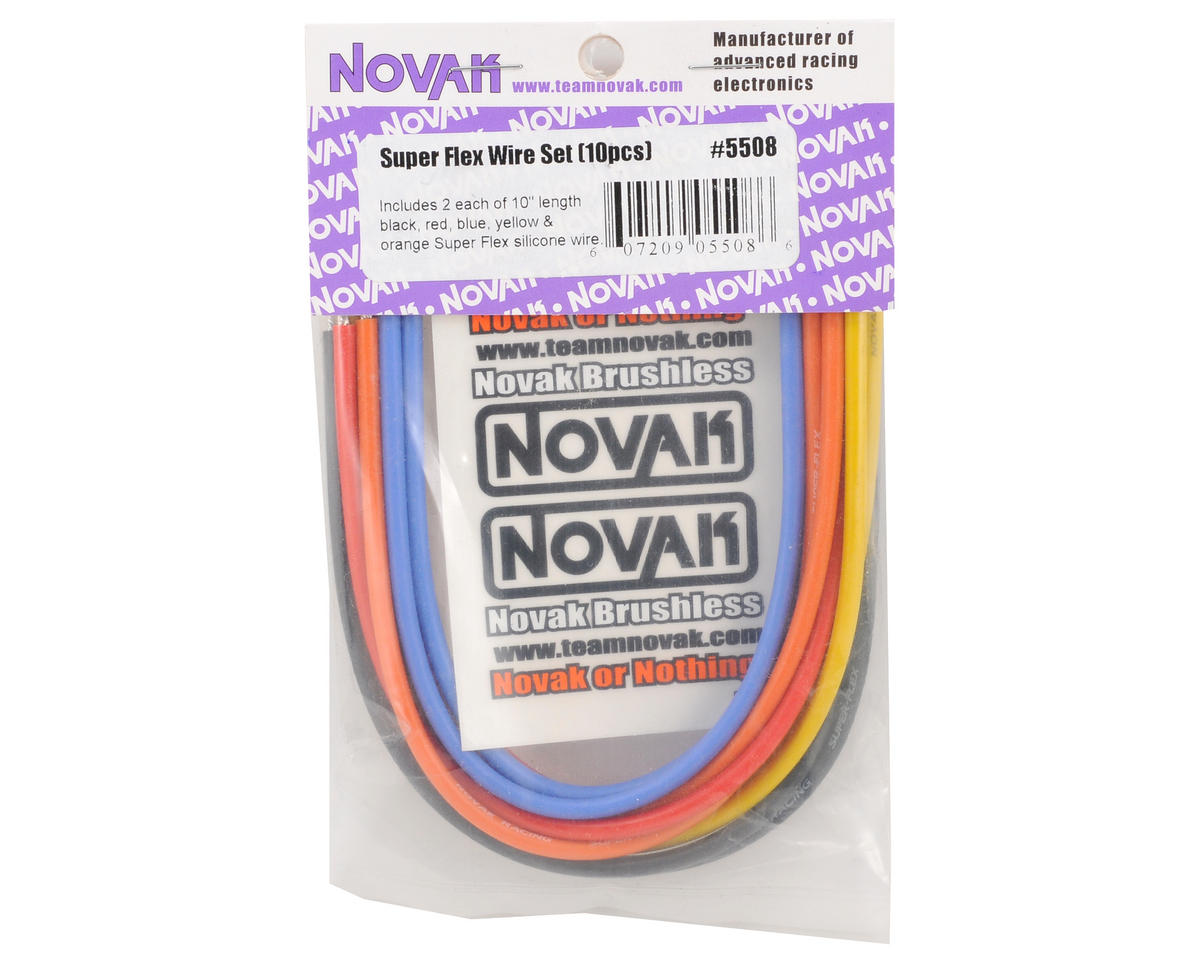 Novak Super Flex 14awg Brushless Silicone Wire Set