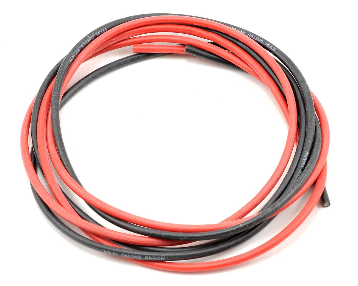 Novak 16awg Silicone Wire Set (Black/Red) (3' ea)