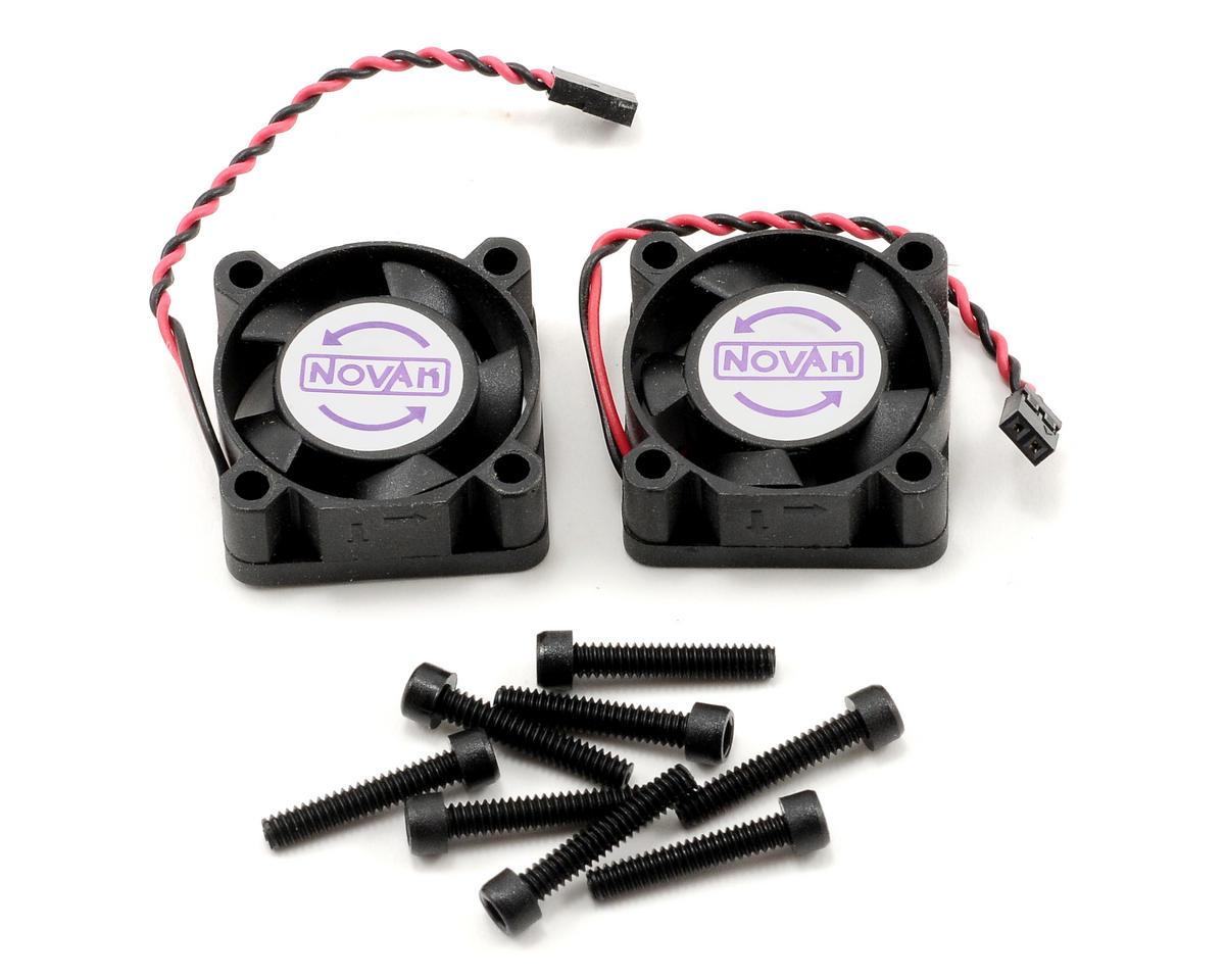 Novak 25x25x10mm Cooling Fan w/2mm Mini Plug (Black) (2)