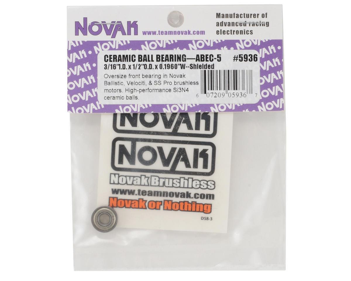 "Novak 3/16x1/2x0.1960"" ABEC-5 Ceramic Ball Bearing (1)"