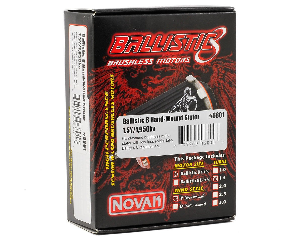Novak Ballistic 8 Wound Stator (1.5Y/1,950Kv)