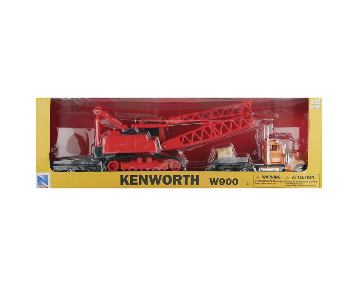 11293C 1/32 Kenworth W900 Lowboy w/Crane by New Ray