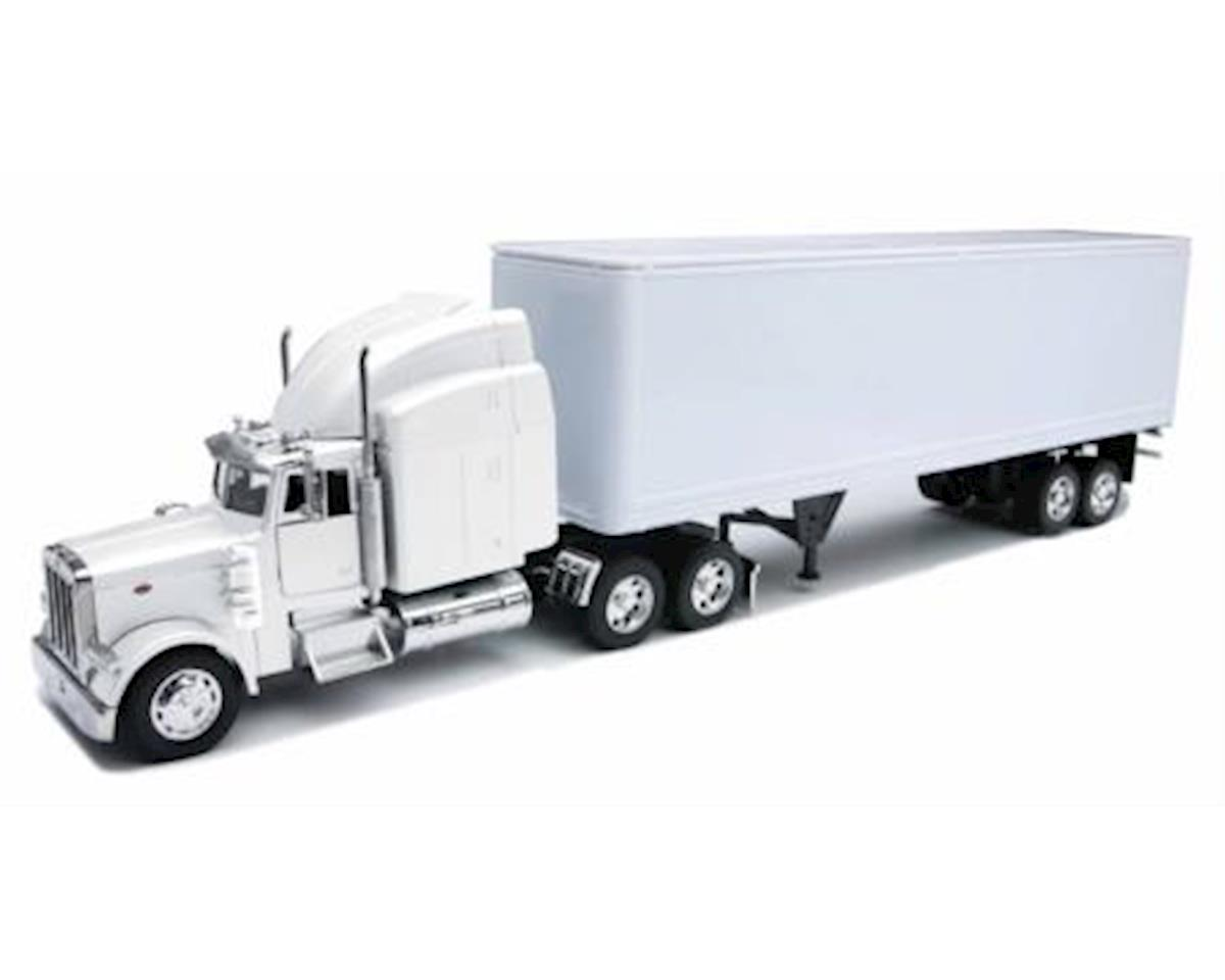 New Ray 14363 Peterbilt 379 With Dry Van - All-White Toy Truck
