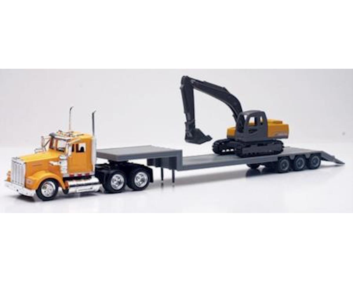 New Ray 1/43 Kenworth W900 w/Lowboy Trailer & Challenger E
