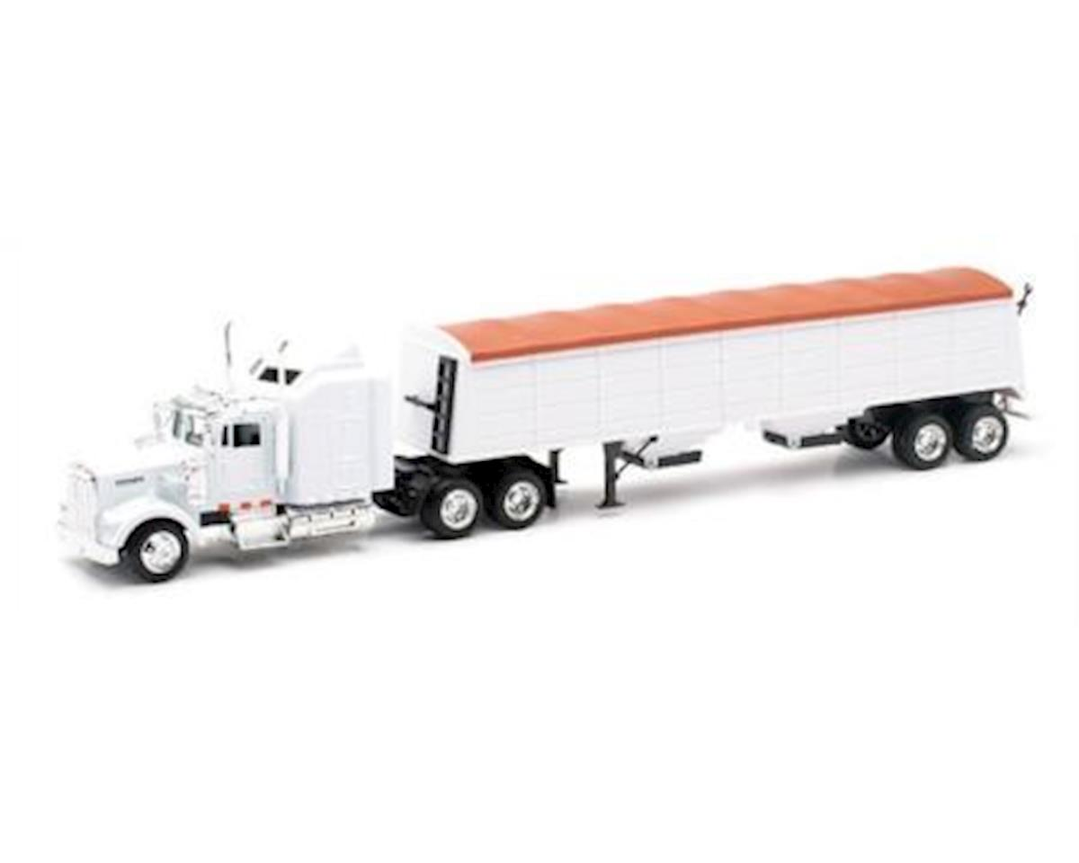 New Ray 1/43 Kenworth W900 W/Grain Hauler Trailer (Die Cas