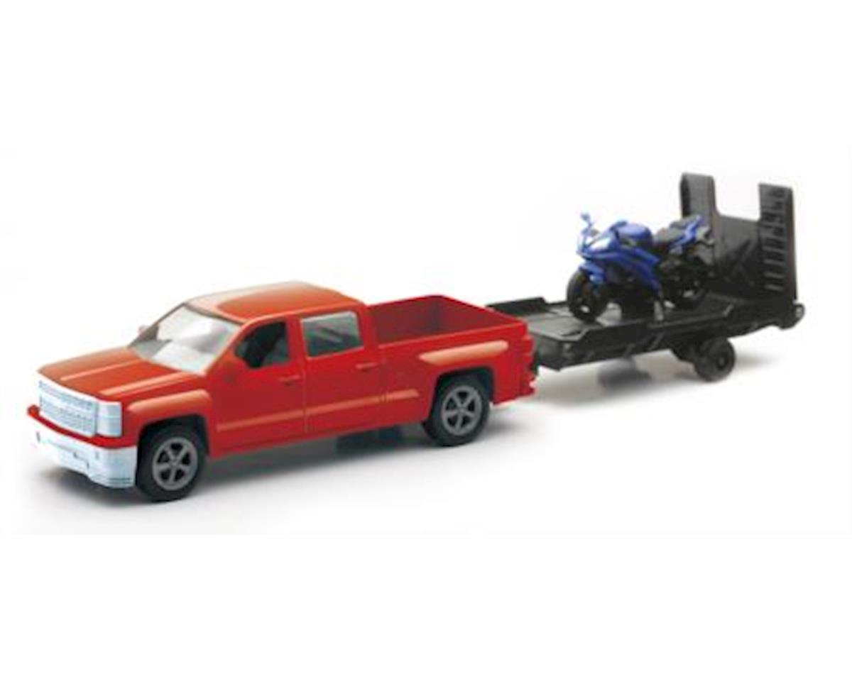 New Ray 1/43 D/C Chevy Pick Up W/ Bike/Atv