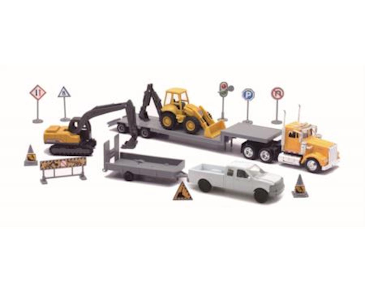 1/43 D/C Construction Set W/Lowboy