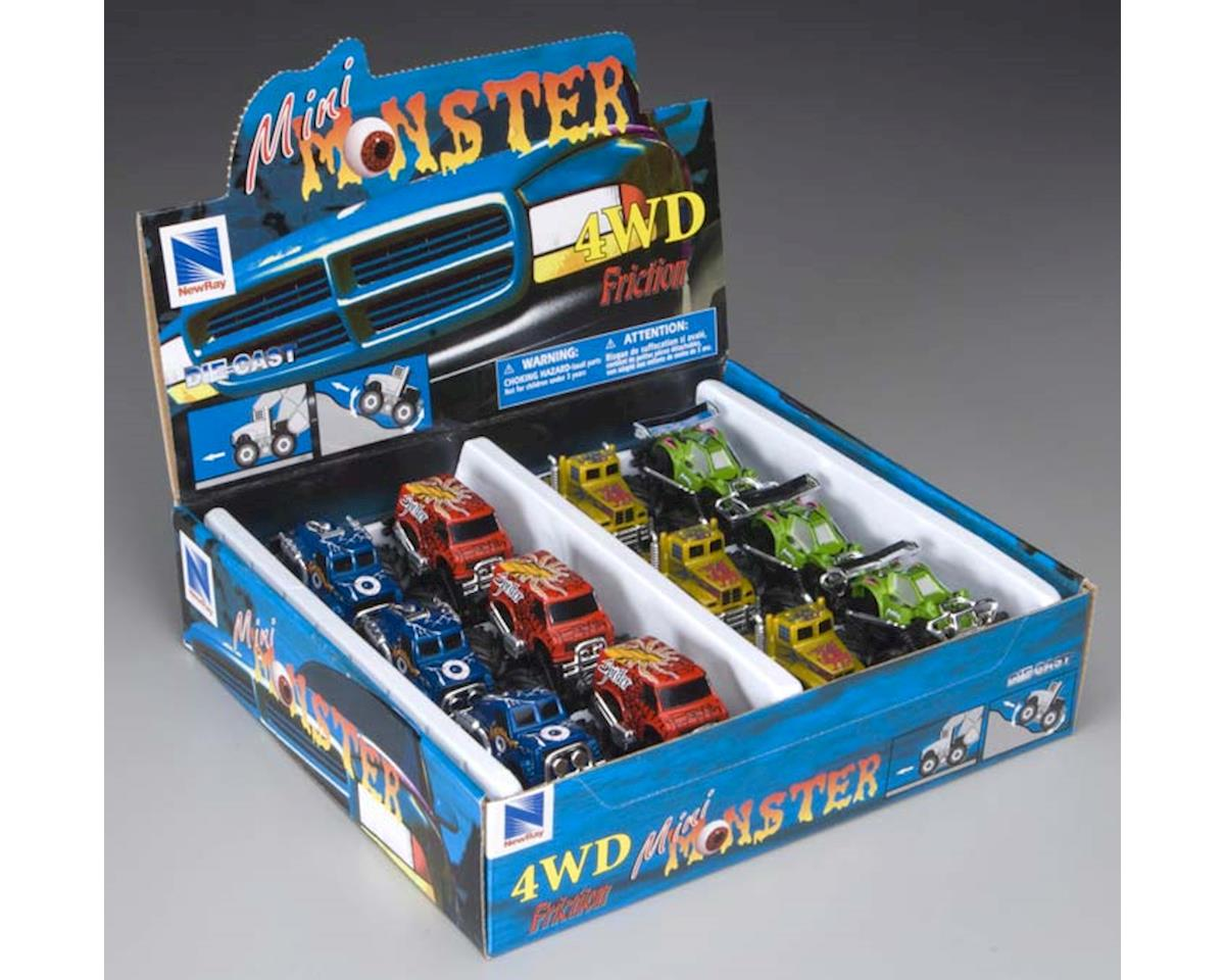 D/C Mini Monster Truck Friction Assorted by New Ray