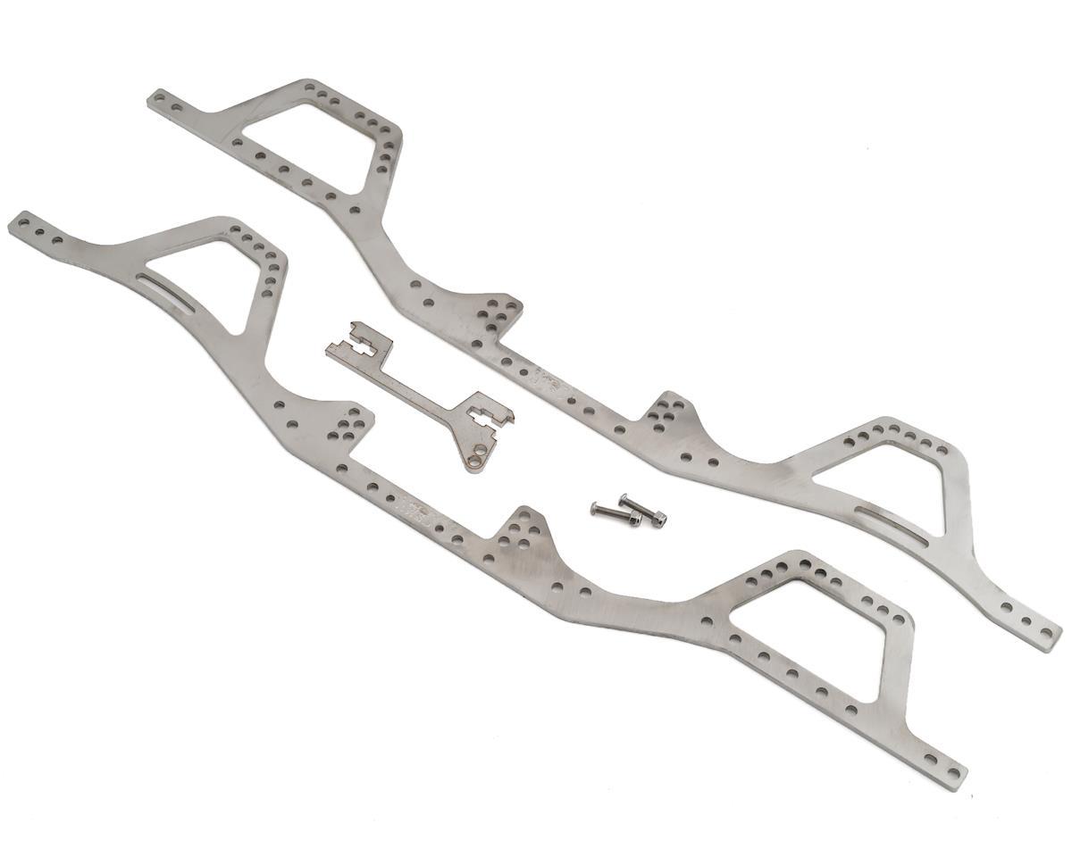 "Northwest Scaler Designs SCX10 II ""Classic"" SUV Stainless Steel Frame Rail Set"