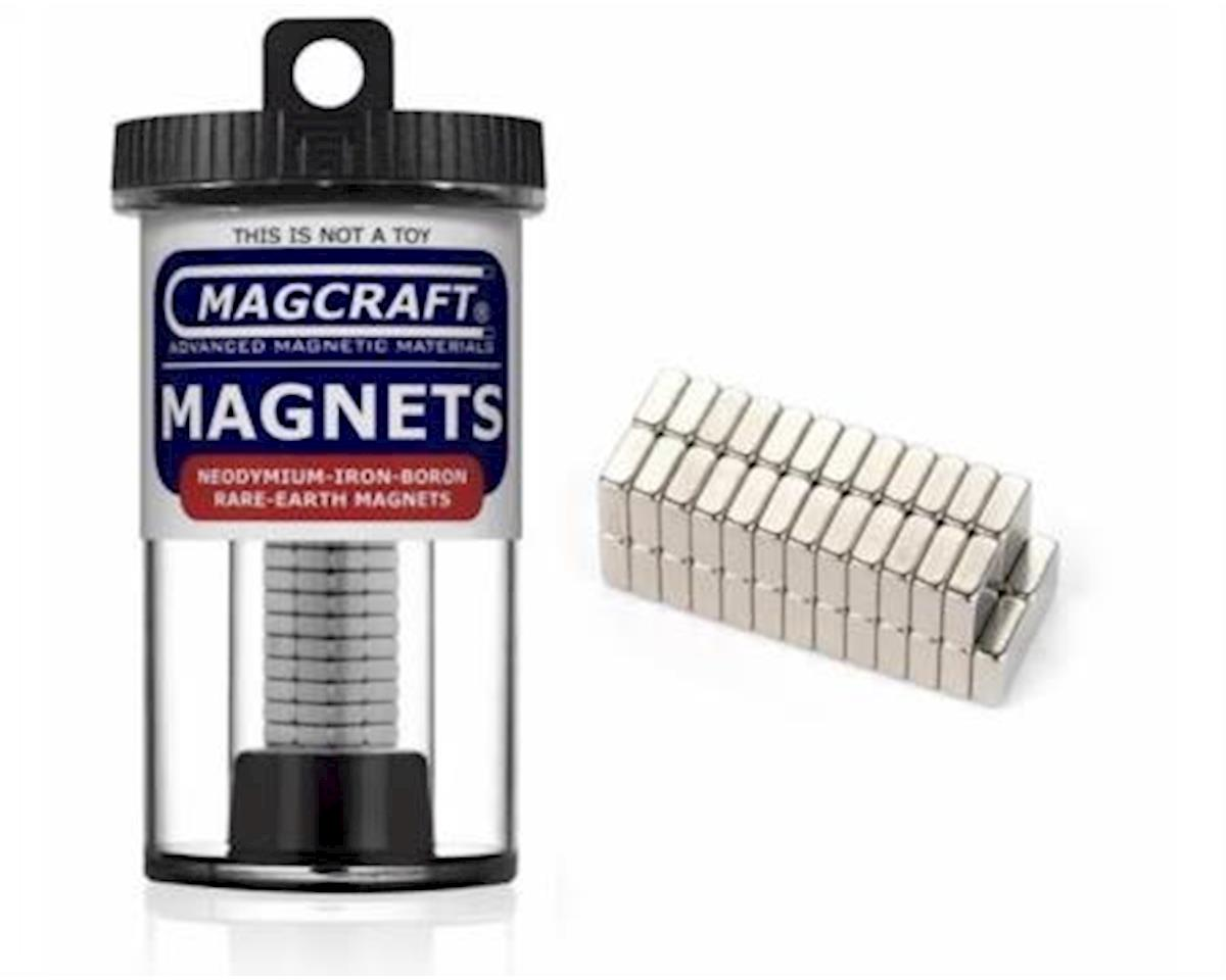 "National Imports  / Magcraft 1/4""x1/4""x1/10"" Rare Earth Block Magnets (50)"