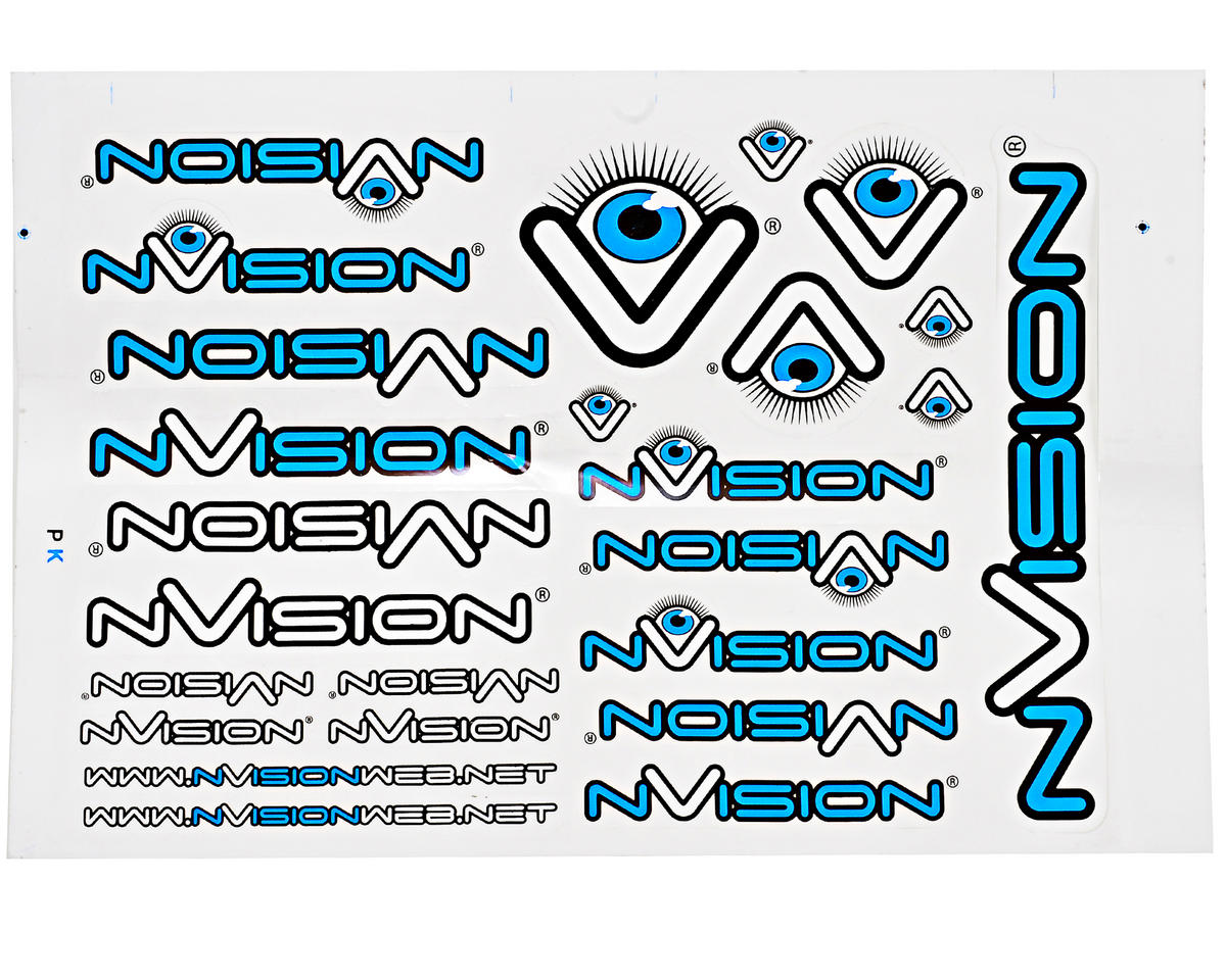 "nVision Large ""Team"" Sticker Sheet"