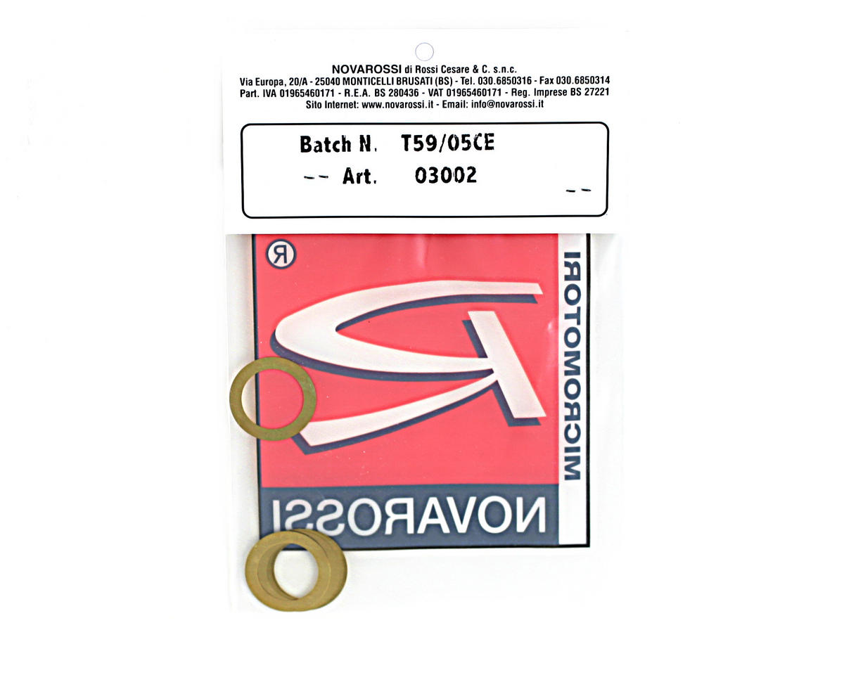 "Novarossi .21 Long Stroke (P5/421B/Plus 21-5) Head Shim 0.15mm/0.006"" Brass (5)"