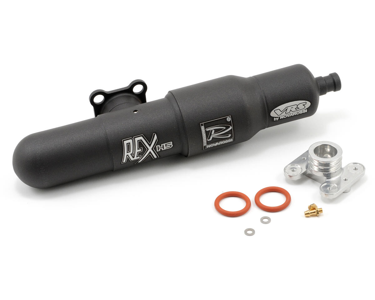 Novarossi Rex H5 Muffler Amp Header Set T Rex 600