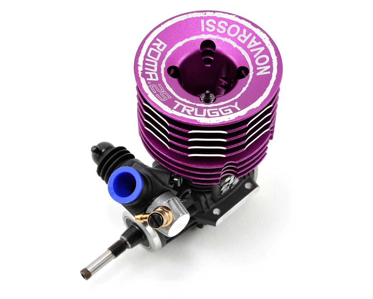 ROMA 7-Port .25 Truggy Off-Road Engine (Turbo Plug) (Steel Bearing) by Novarossi