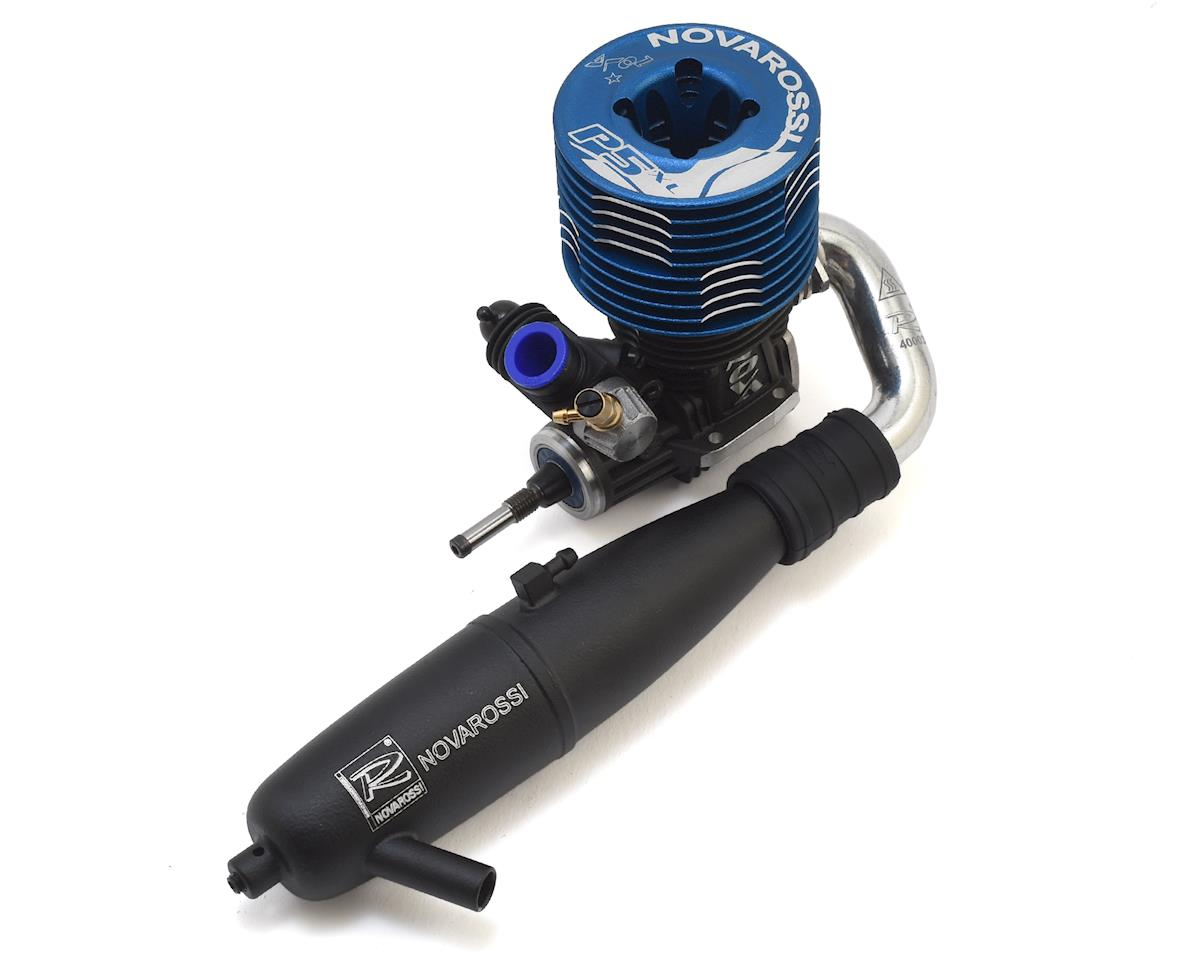 Novarossi S21P5XLT 5 Port .21 Off Road Engine & Pipe Combo (Turbo Plug) (Blue)