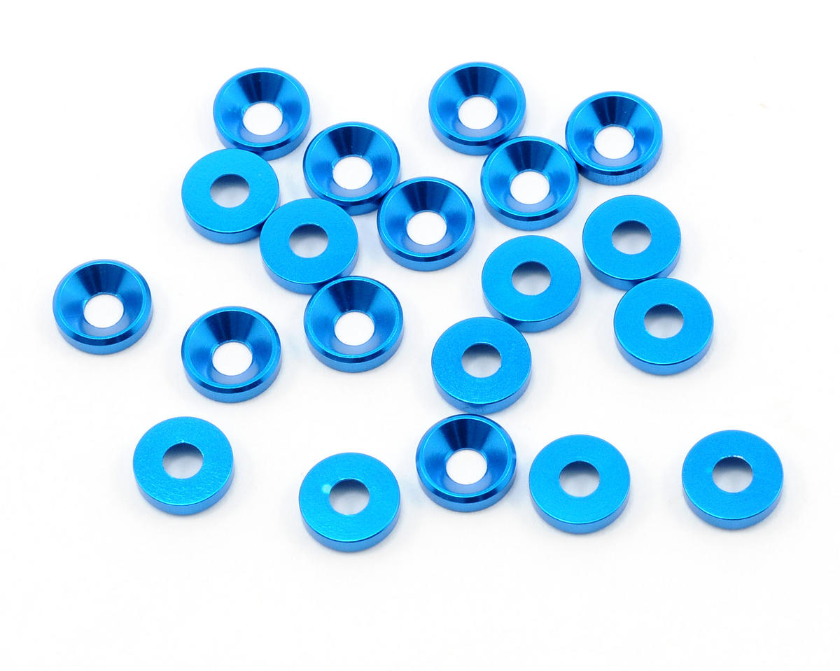OFNA 3mm Concave Washers (Blue) (20)