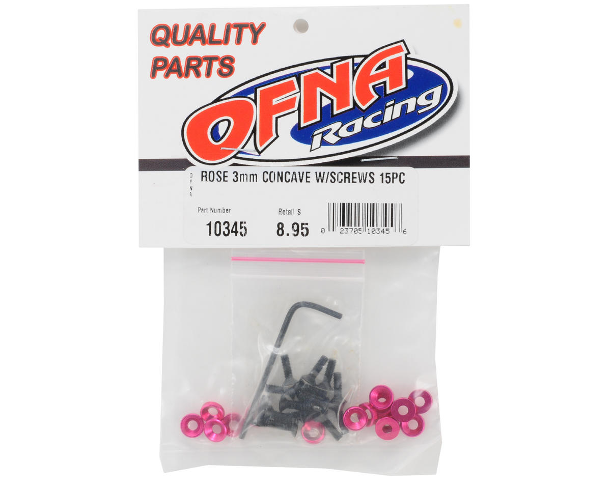 OFNA 3mm Concave Washers w/Screws (Rose) (15)