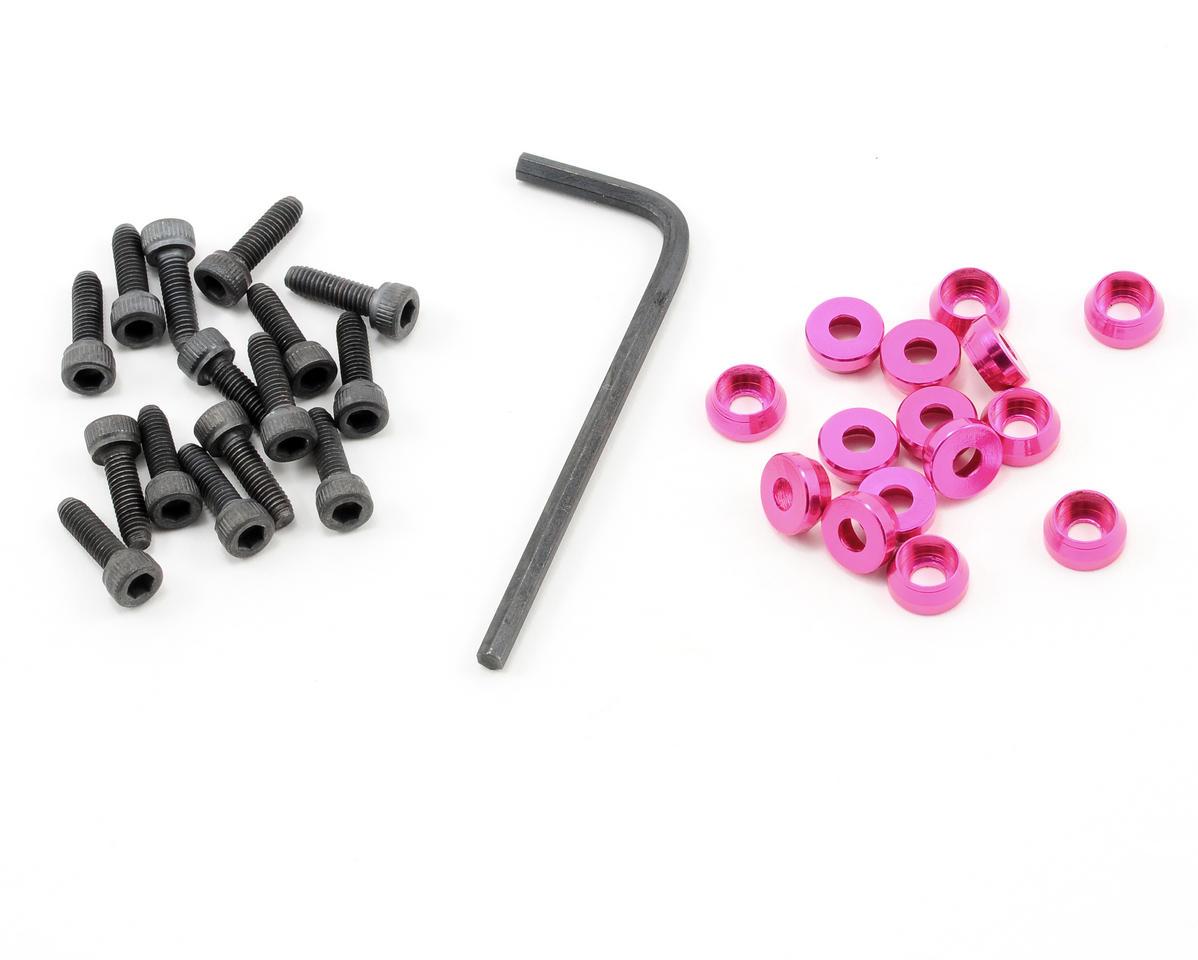 OFNA 3mm Cap Washers w/Screws (Rose) (15)