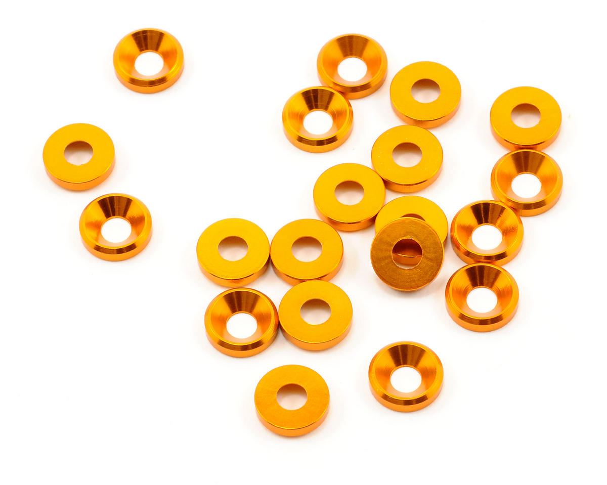 OFNA 4mm Concave Washers (Gold) (20)