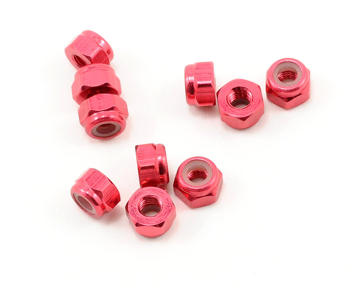 OFNA 3mm Nylok Nuts (Red) (10)