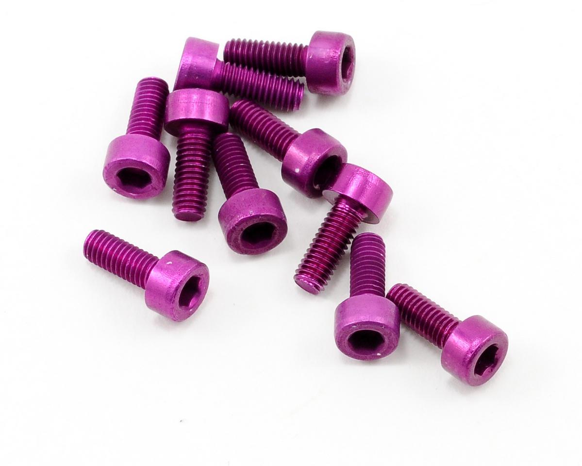 OFNA 3x8mm Caphead Hex Screws (Purple) (10)