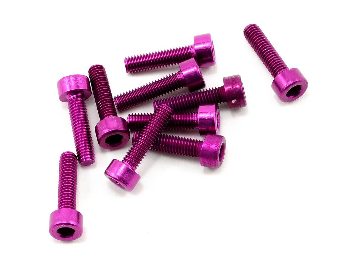 OFNA 3x12mm Caphead Hex Screws (Purple) (10)