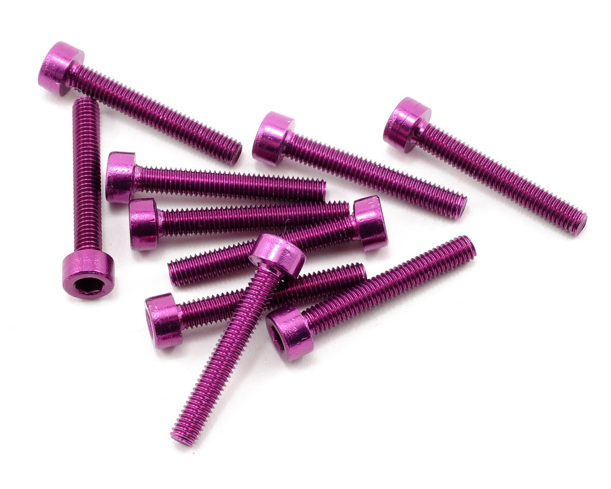 OFNA 3x20mm Caphead Hex Screws (Purple) (10)
