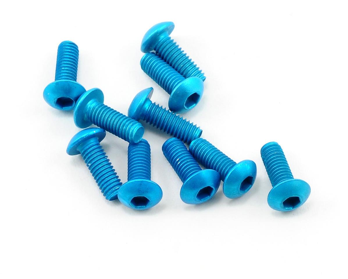 OFNA 3x8mm Button Head Screws (Blue) (10)