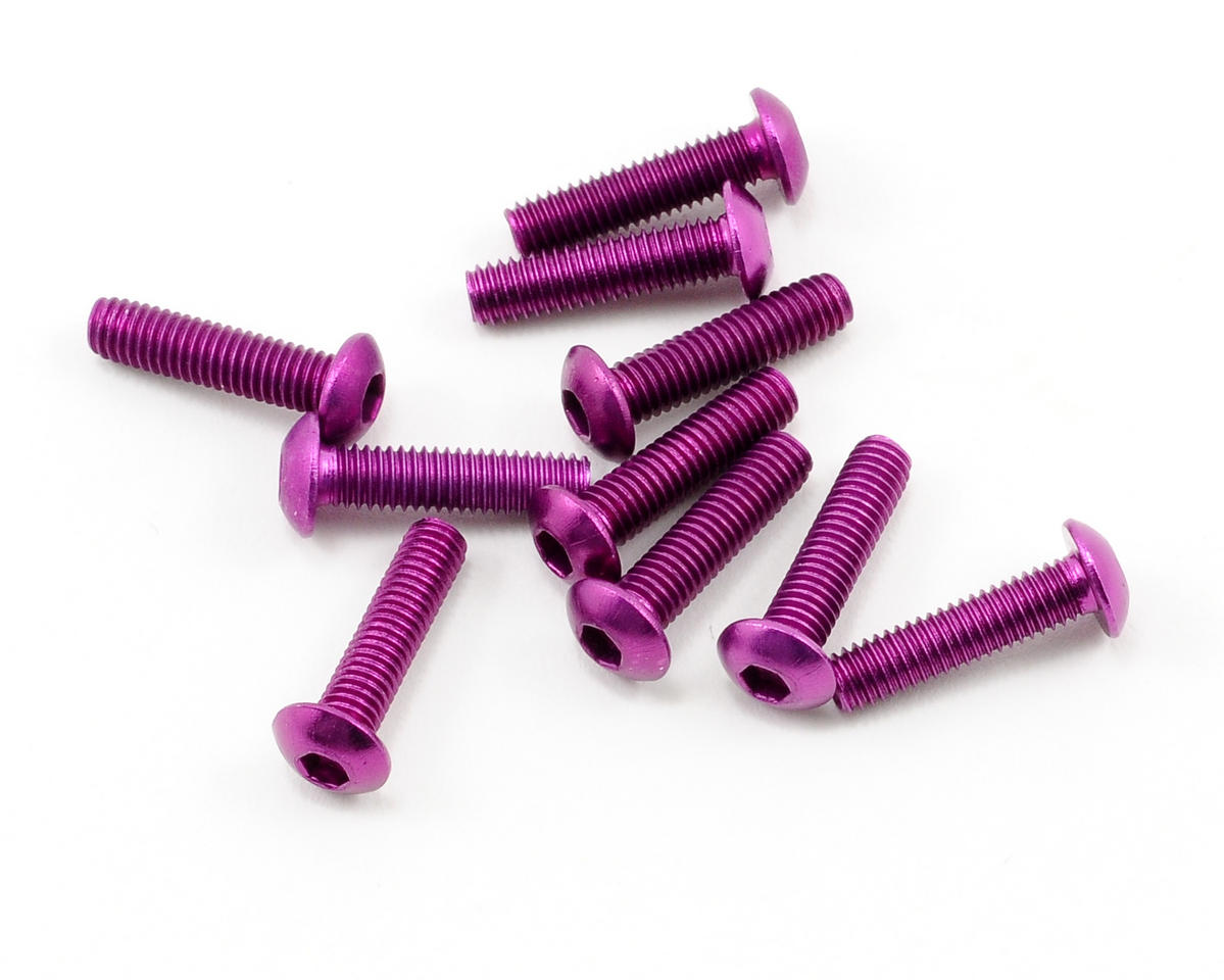 OFNA 3x12mm Button Head Screws (Purple) (10)
