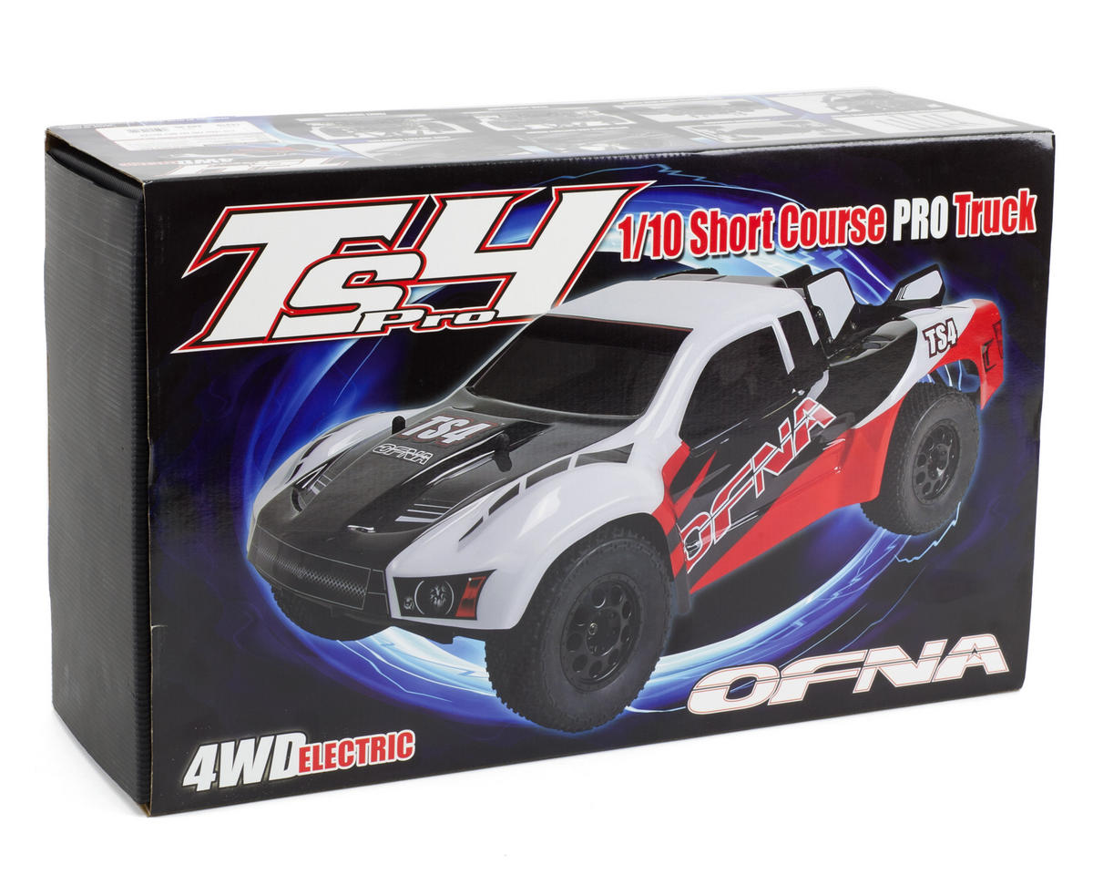 OFNA TS4SC Pro 1/10 Scale 4WD Electric Short Course Truck Rolling Chassis (80% Pre-Built)