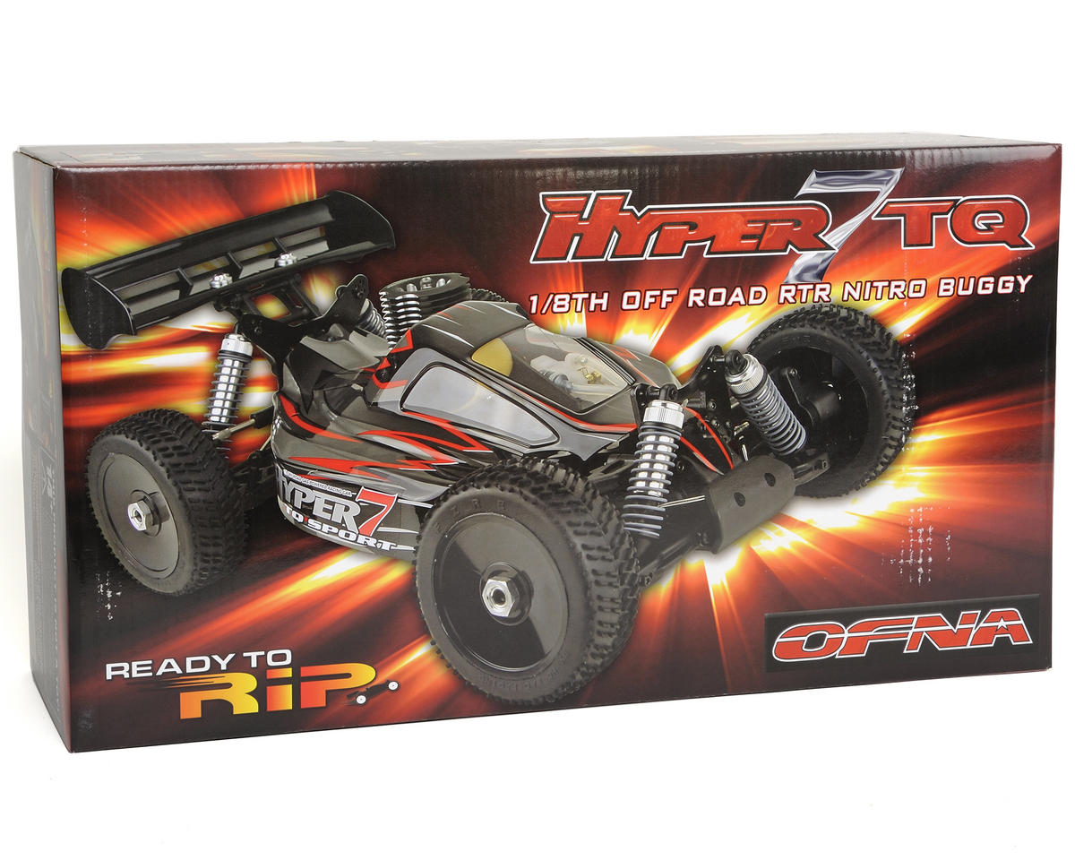 OFNA Hyper 7 TQ Sport RTR 1/8 Off Road Buggy w/2.4Ghz Radio & JL .28 Pull Start