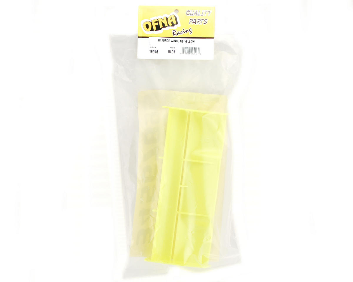 OFNA 1/8 High Downforce Buggy Wing (Yellow)