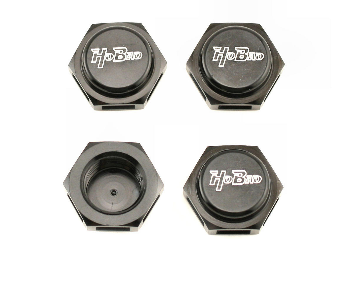 OFNA CNC 17mm Wheel Hub Cap Nuts (Black)