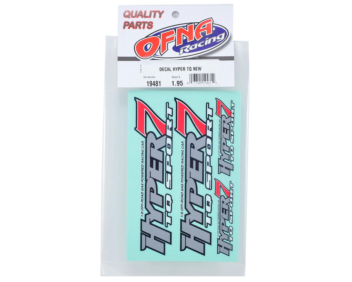 OFNA Hyper 7 TQ Decal Sheet