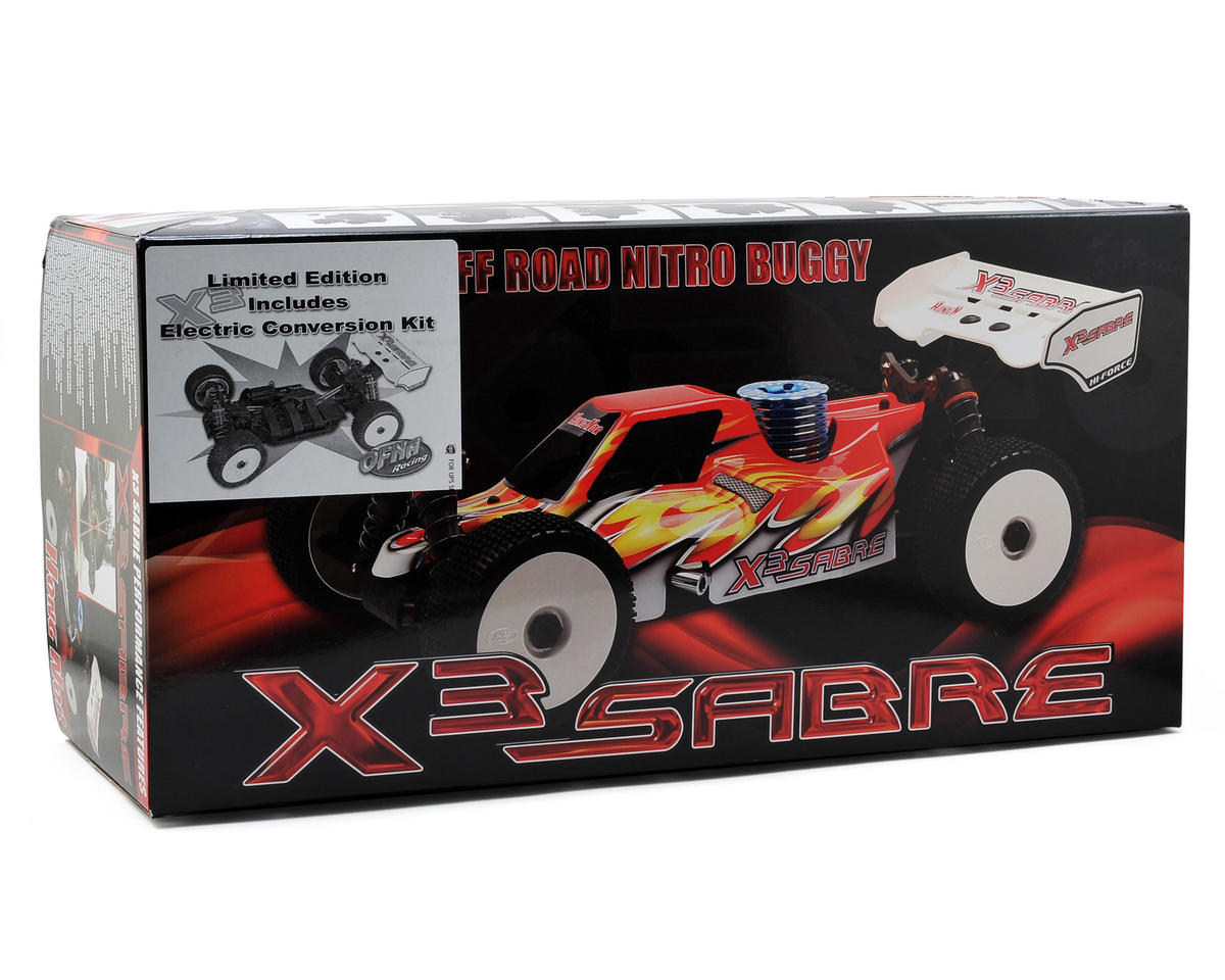 OFNA X3e Sabre Limited Edition 1/8 Nitro Off Road Buggy Kit w/Electric Converion Kit