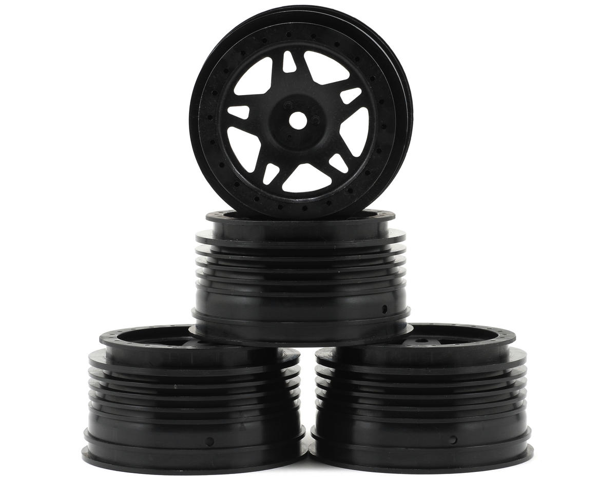 OFNA Jammin SCRT 10 Nitro Short Course Wheels (4) (Black)