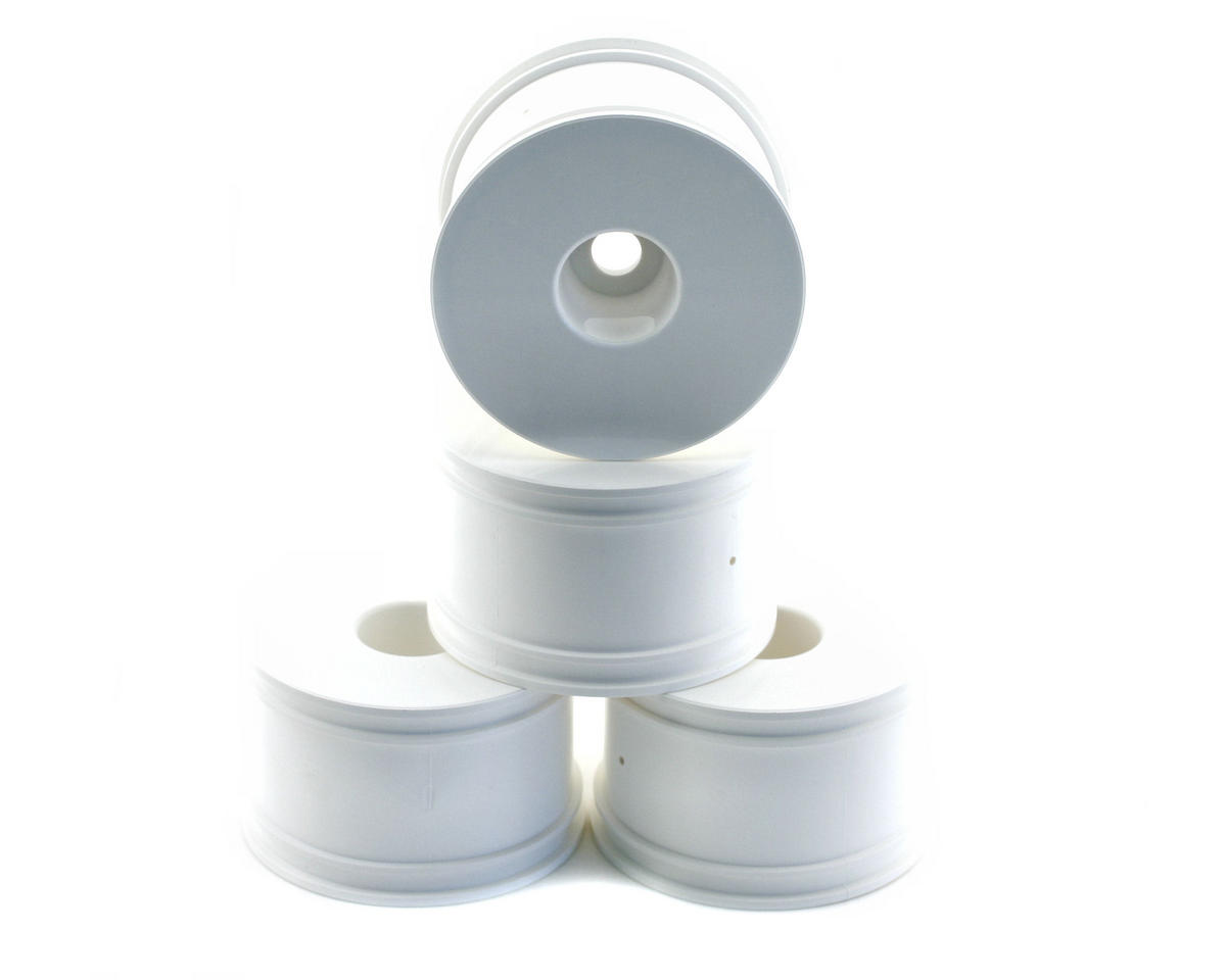 OFNA 17mm Half Offset Monster Truck Dish Wheels (4) (White) (Thunder Tiger ST-1)