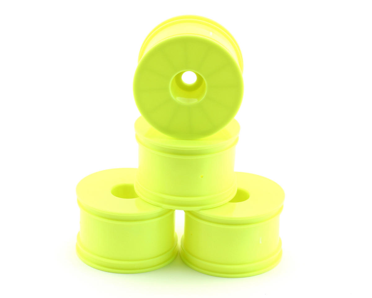 OFNA 17mm Half Offset Monster Truck Dish Wheels (4) (Yellow)