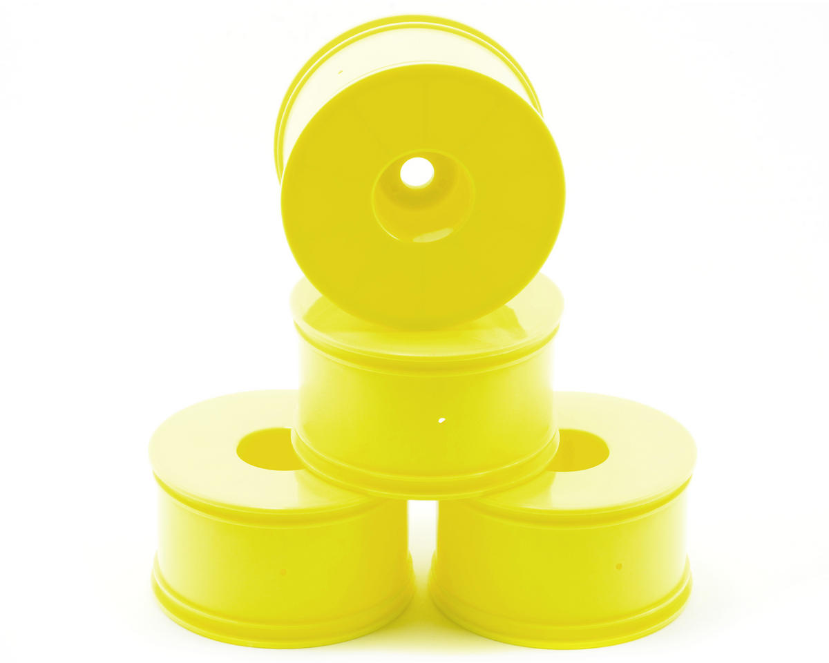 OFNA 17mm Half Offset LPR Monster Truck Yellow Dish Wheels (4)