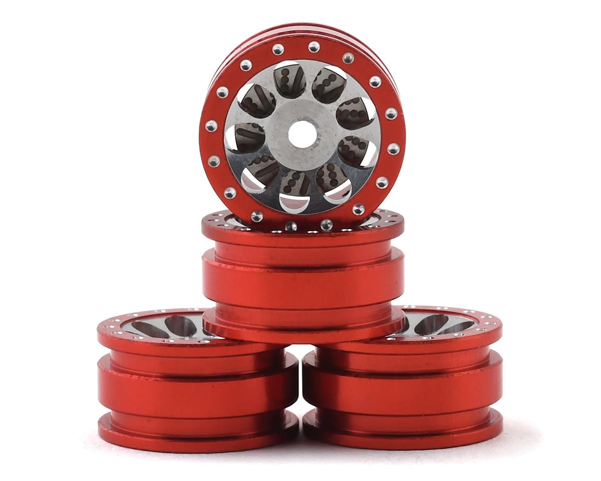 Orlandoo Hunter OH35A01 Aluminum Porous 9 Hole Wheel w/Brake Rotor (Red) (4)