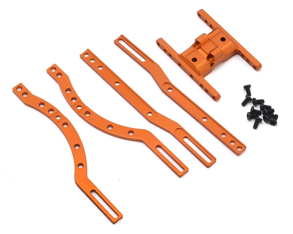 Orlandoo Hunter OH35A01 Aluminum Chassis Rail Set w/Skid (Orange)