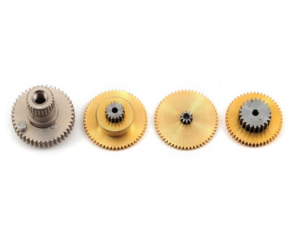 11S Series Aluminum Anodize Titanium Servo Gear Set by RC OMG